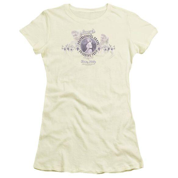 I Love Lucy Grape Crushing Short Sleeve Junior Sheer T-Shirt