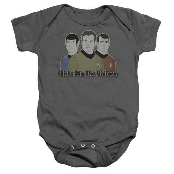 Star Trek Dig It Infant Snapsuit Charcoal Md