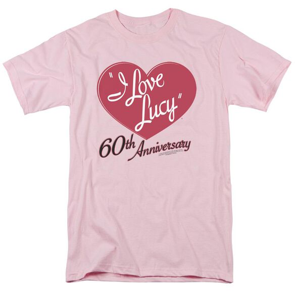 I LOVE LUCY 60TH ANNIVERSARY - S/S ADULT 18/1 - PINK T-Shirt