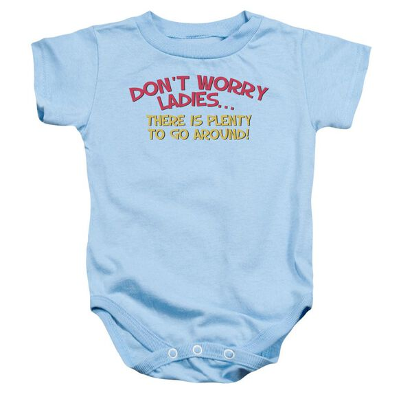 Don't Worry Infant Snapsuit Light Blue Md