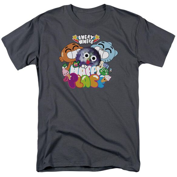 Amazing World Of Gumball Happy Place Short Sleeve Adult T-Shirt