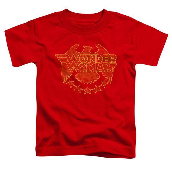 Dc Wonder Eagle Short Sleeve Toddler Tee Red T-Shirt