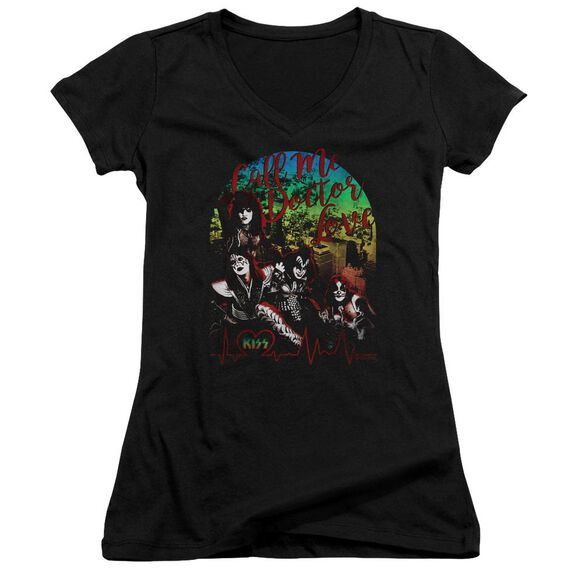 Kiss Doctor Love Junior V Neck T-Shirt