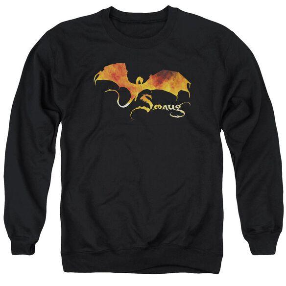 Hobbit Smaug On Fire Adult Crewneck Sweatshirt