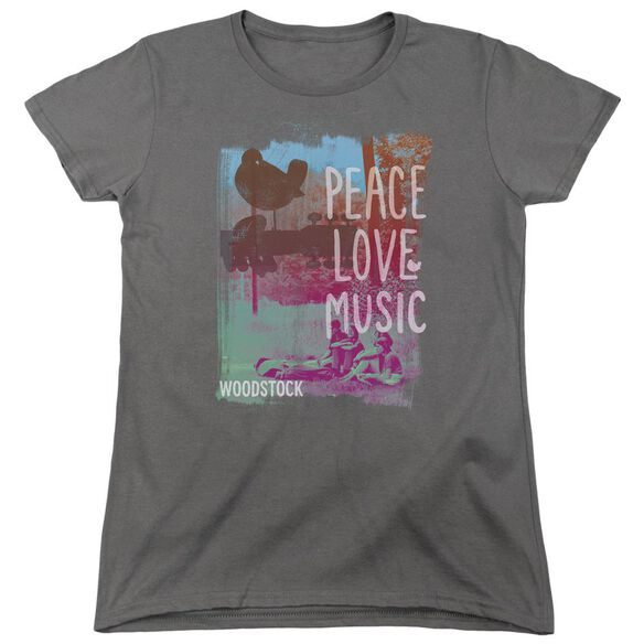 Woodstock Plm Short Sleeve Womens Tee T-Shirt