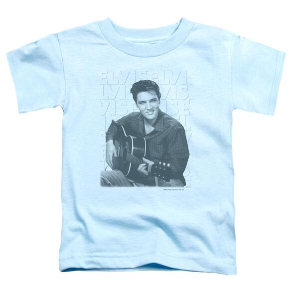 Elvis Repeat Short Sleeve Toddler Tee Light Blue T-Shirt
