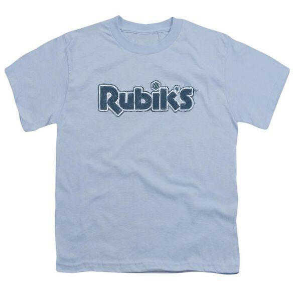 Rubik's Cube Rough Logo Short Sleeve Youth Light T-Shirt