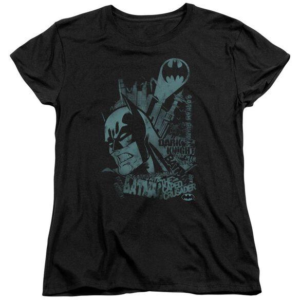 BATMAN GRITTED TEETH - S/S WOMENS TEE - BLACK T-Shirt