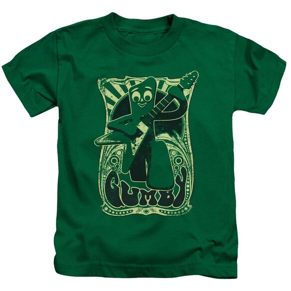 Gumby Vintage Rock Poster Short Sleeve Juvenile Kelly Green T-Shirt