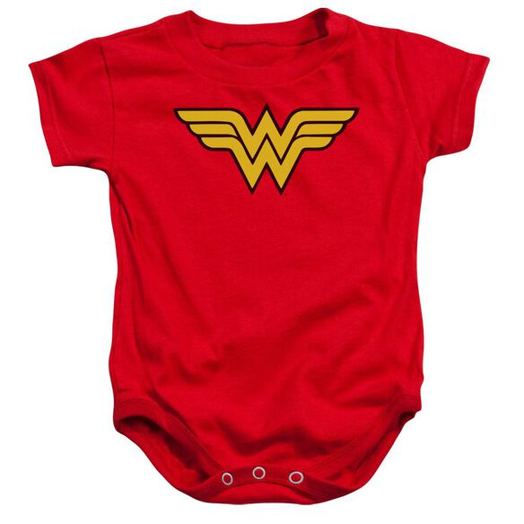 Dc Wonder Woman Logo Infant Snapsuit Red Md