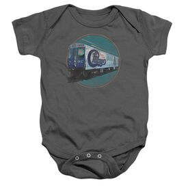 Chicago The Rail Infant Snapsuit Charcoal