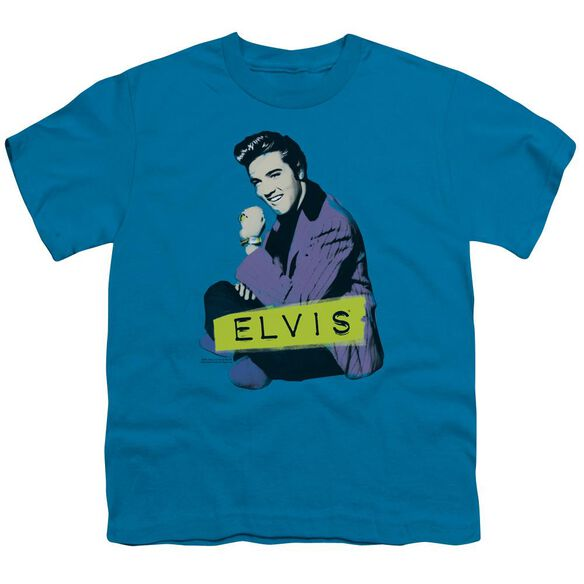 ELVIS PRESLEY SITTING - S/S YOUTH 18/1 - TURQUOISE T-Shirt