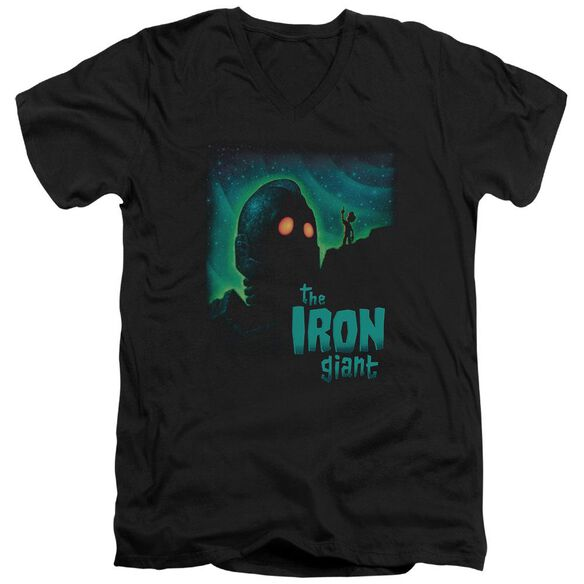 Iron Giant Look To The Stars Short Sleeve Adult V Neck T-Shirt