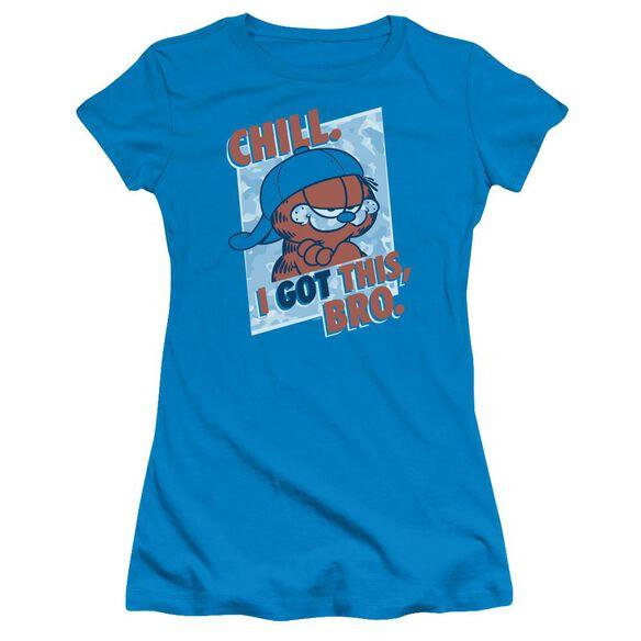 GARFIELD I GOT THIS BRO - S/S JUNIOR SHEER - TURQUOISE T-Shirt