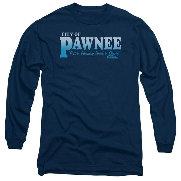 Parks And Rec Pawnee Long Sleeve Adult T-Shirt