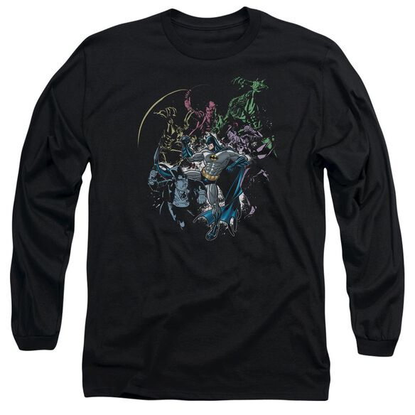 Batman Surrounded Long Sleeve Adult T-Shirt