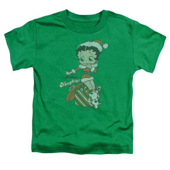 Betty Boop Define Naughty Short Sleeve Toddler Tee Kelly Green T-Shirt