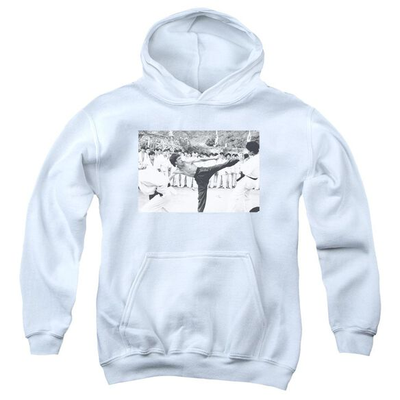 Bruce Lee Kick To The Head Youth Pull Over Hoodie