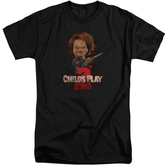Childs Play Heres Chucky Short Sleeve Adult Tall T-Shirt