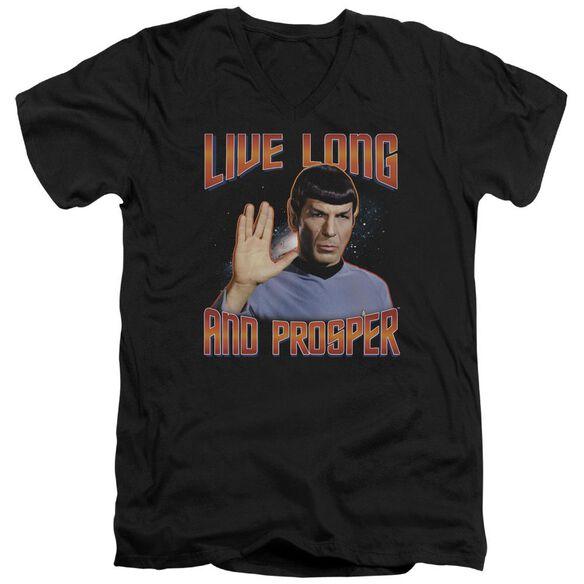 ST ORIGINAL LIVE LONG AND PROSPER - S/S ADULT V-NECK - BLACK T-Shirt
