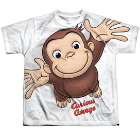 Curious George Hands In The Air Short Sleeve Youth Poly Crew T-Shirt