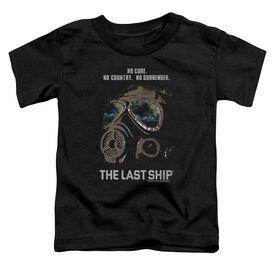 Last Ship Mask Short Sleeve Toddler Tee Black T-Shirt