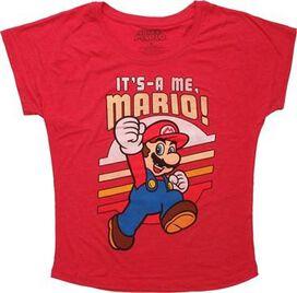 Mario It's A Me Ladies Tee