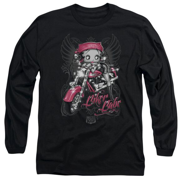 Betty Boop Biker Babe Long Sleeve Adult T-Shirt