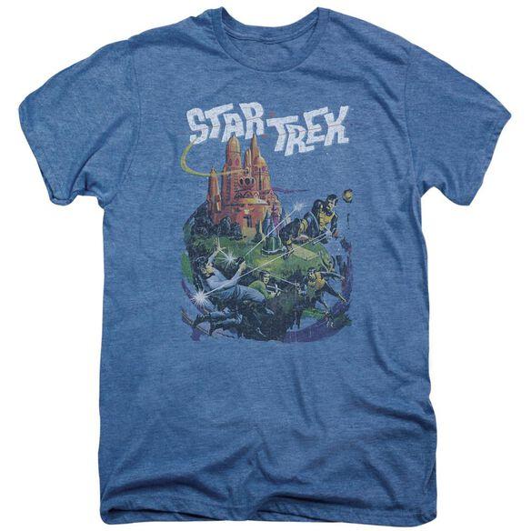 Star Trek Vulcan Battle Short Sleeve Adult Premium Tee Deep Sea T-Shirt