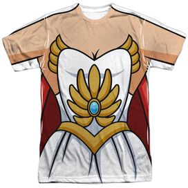 She Ra Costume Short Sleeve Adult Poly Crew T-Shirt