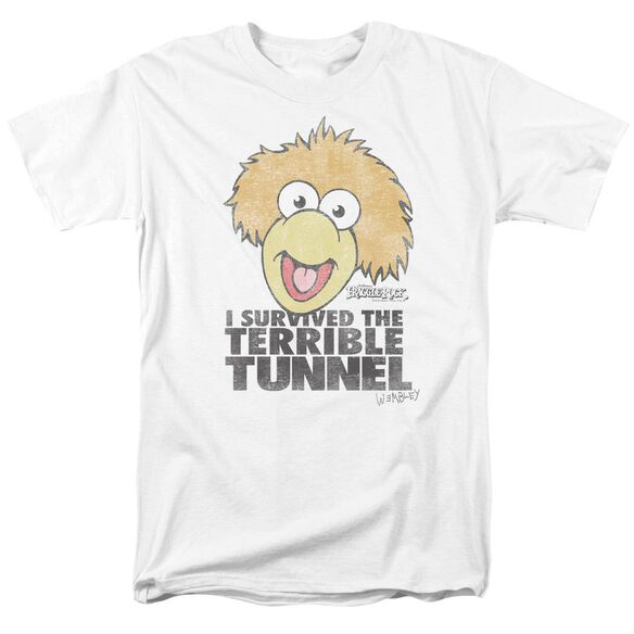 Fraggle Rock Terrible Tunnel Short Sleeve Adult White T-Shirt