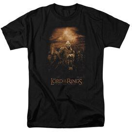 Lor Riders Of Rohan Short Sleeve Adult Black T-Shirt