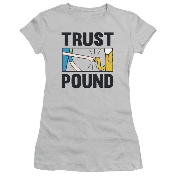 Adventure Time Trust Pound Short Sleeve Junior Sheer T-Shirt