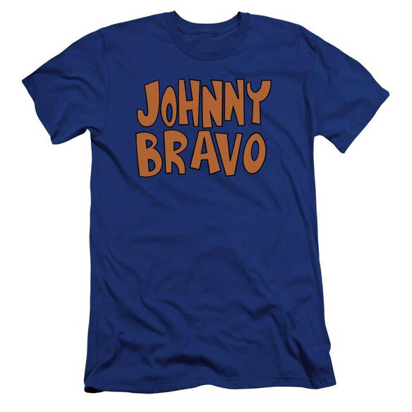 Johnny Bravo Jb Logo Premuim Canvas Adult Slim Fit Royal