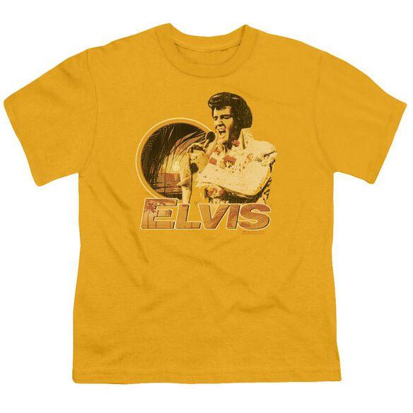 Elvis Singing Hawaii Style Short Sleeve Youth T-Shirt