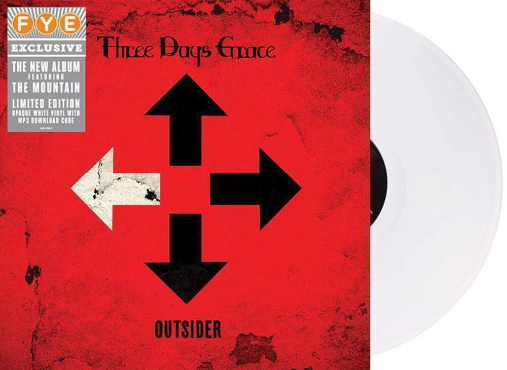 Outsider Exclusive White Vinyl By Three Days Grace New