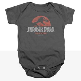 Jurassic Park Faded Logo - Infant Snapsuit - Charcoal - Lg