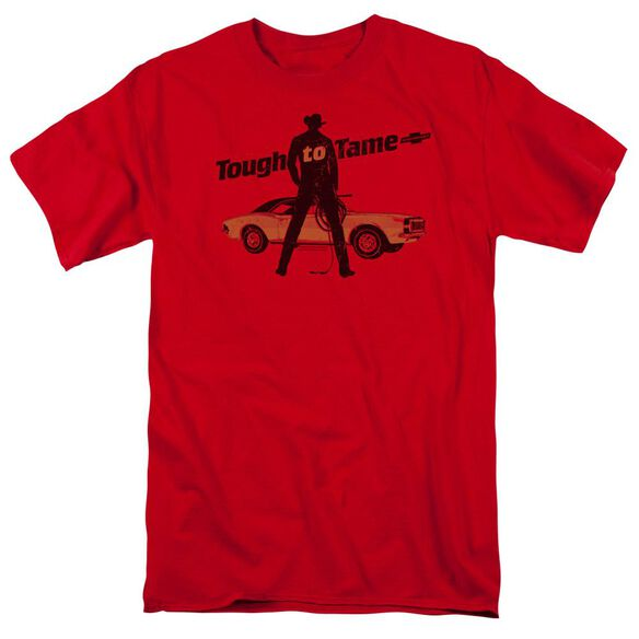 Chevrolet Tough To Tame Short Sleeve Adult Red T-Shirt