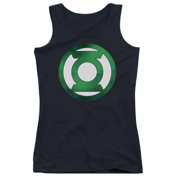 Green Lantern Green Chrome Logo Juniors Tank Top