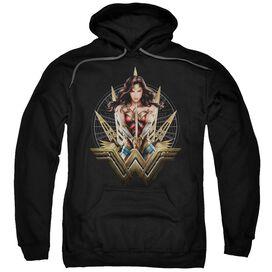 Wonder Woman Movie Wonder Blades Adult Pull Over Hoodie Black