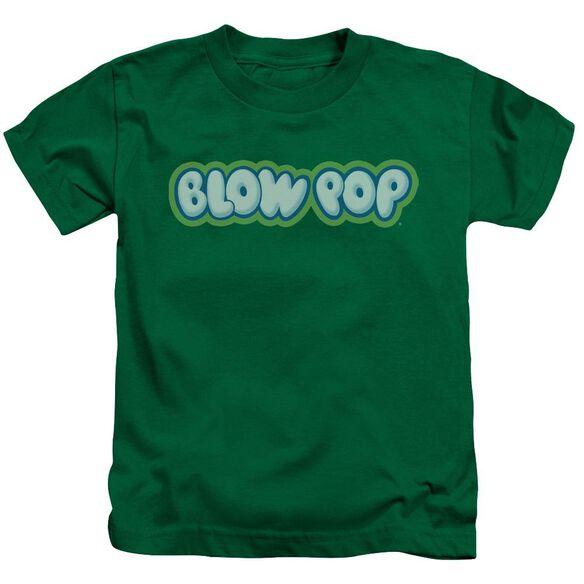 Tootsie Roll Blow Pop Logo Short Sleeve Juvenile Kelly Green Md T-Shirt
