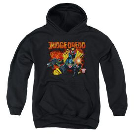 Judge Dredd Through Fire Youth Pull Over Hoodie