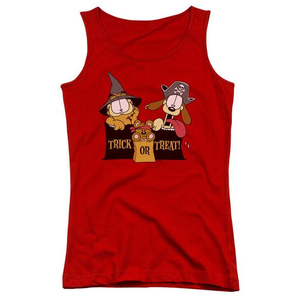 Garfield Trick Or Treat Juniors Tank Top