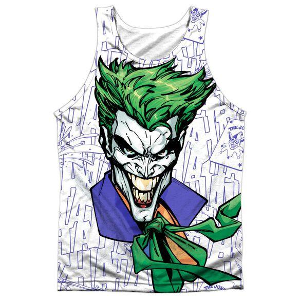 Batman Laugh Clown Laugh Adult 100% Poly Tank Top