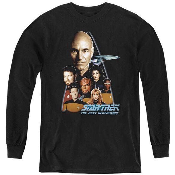 Star Trek The Next Generation - Youth Long Sleeve Tee - Black
