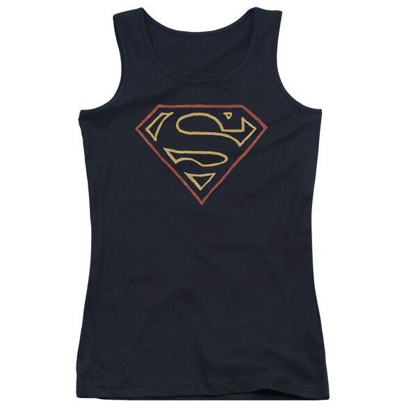 Superman Colored Shield Juniors Tank Top