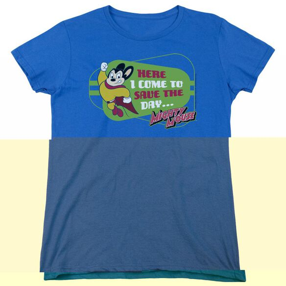 MIGHTY MOUSE HERE I COME-S/S WOMENS T-Shirt