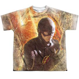 The Flash Flash Town Short Sleeve Youth Poly Crew T-Shirt