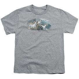 Wildlife High Trails Dall Sheep Short Sleeve Youth Athletic T-Shirt