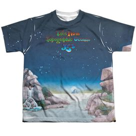 Yes Topographic Oceans Short Sleeve Youth Poly Crew T-Shirt